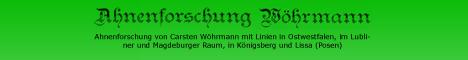 private Forschungseite von Carsten Wöhrmann mit Datenbanken zu den Kirchspielen Spenge, Jöllenbeck und Herford (Münstergemeinde)